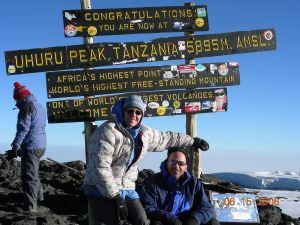 On the summit of Mt Kilimanjaro, Tanzania