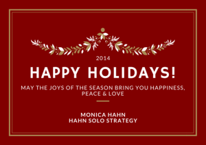 Happy Holidays from Hahn Solo Strategy